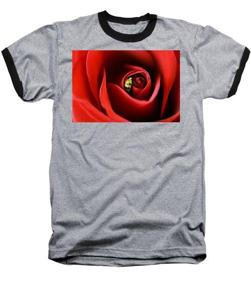 A Lady's Love Baseball T-Shirt by The Art Of Marilyn Ridoutt-Greene