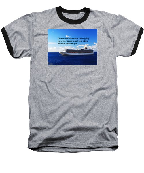 Baseball T-Shirt featuring the photograph A Life Journey by Gary Wonning