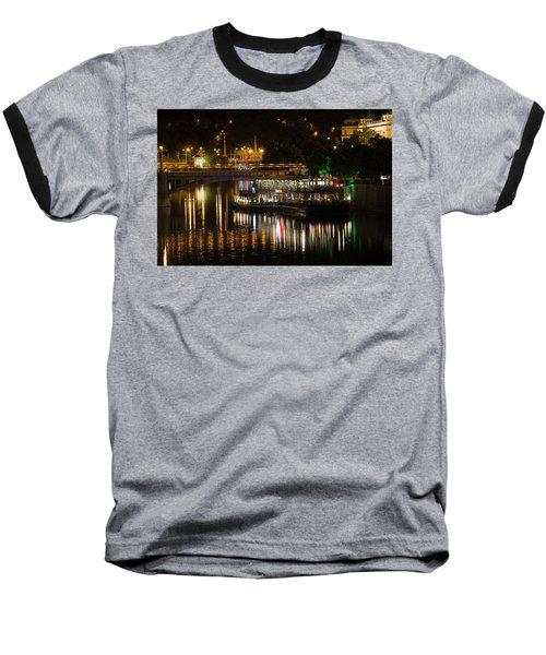 Baseball T-Shirt featuring the photograph A Light Dinner by Alex Lapidus