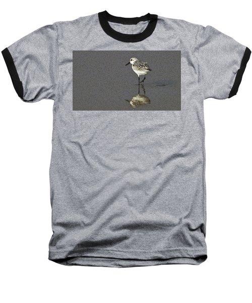 A Little Bird On A Beach Baseball T-Shirt by Alex Galkin