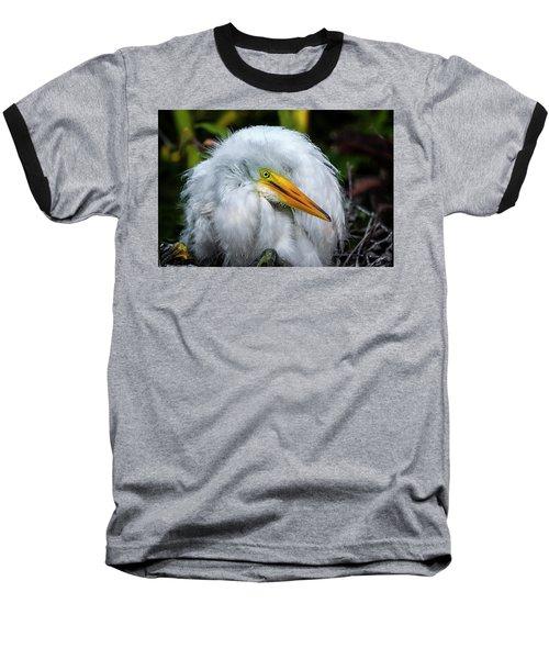 A Little Bit Of Fluff Baseball T-Shirt by Cyndy Doty