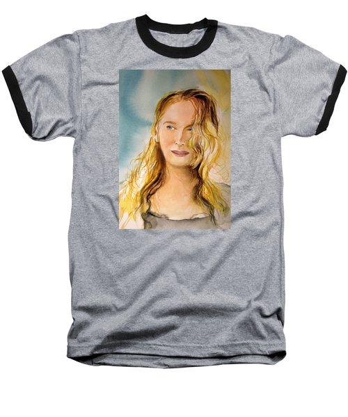 A Little Bit Of Meryl Baseball T-Shirt by Allison Ashton