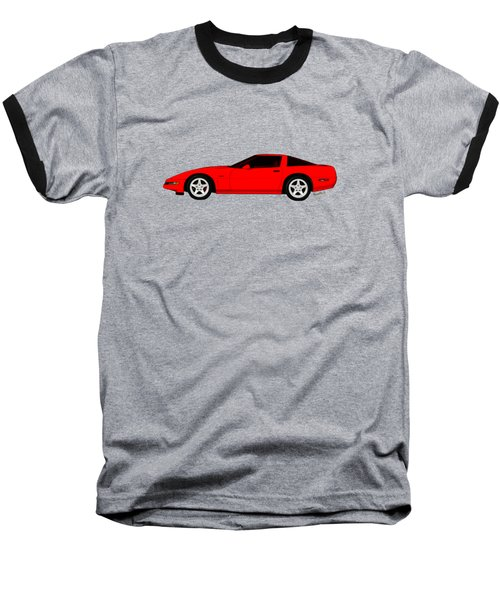 A Little C-4 Zr-1 Corvette On The Side Baseball T-Shirt