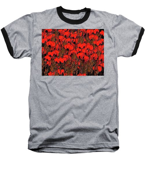 A Little Family Gathering Of Poppies Baseball T-Shirt