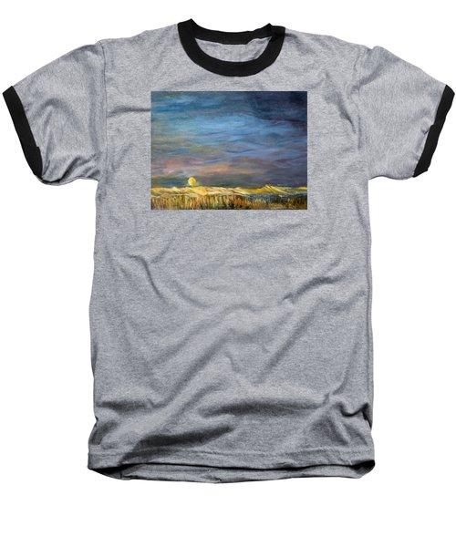 A Little Moon Magic Baseball T-Shirt by Michael Helfen