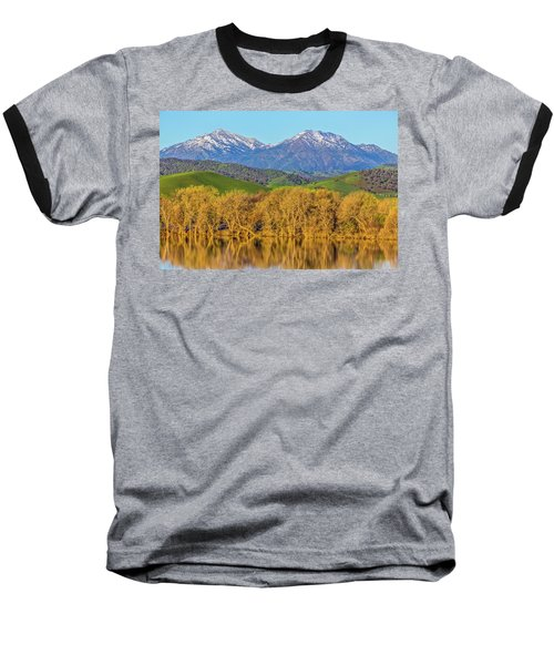 A Little Snow On Mt. Diablo Baseball T-Shirt