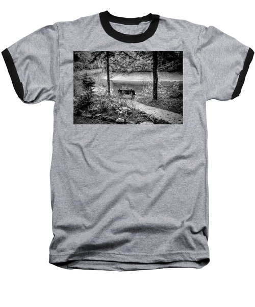 A Lone Bench By The Nantahala River Baseball T-Shirt
