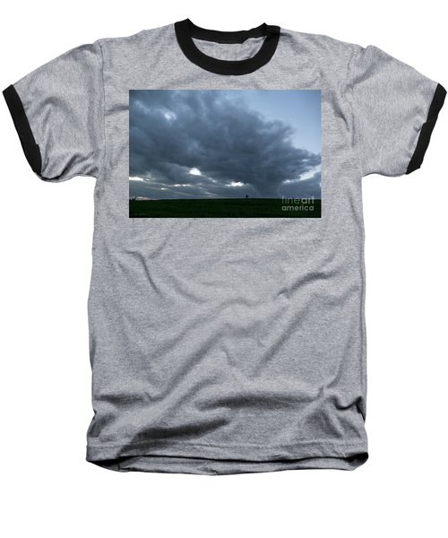 Alone In The Face Of The Storm Baseball T-Shirt