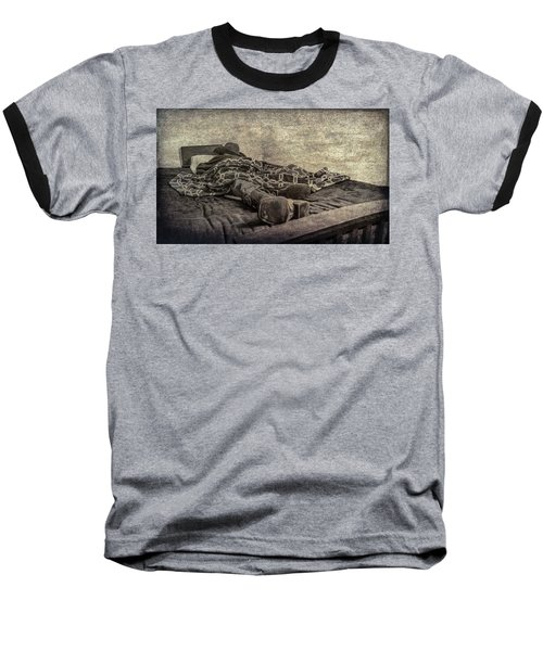 Baseball T-Shirt featuring the photograph A Long Day On The Trail by Annette Hugen