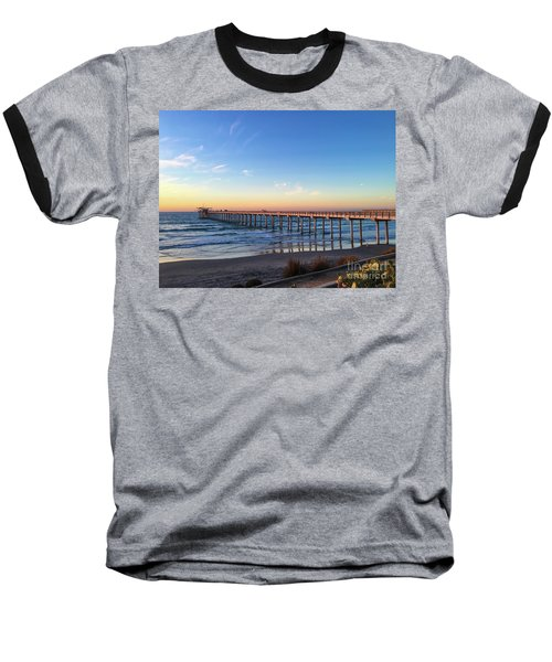 A Long Look At Scripps Pier At Sunset Baseball T-Shirt