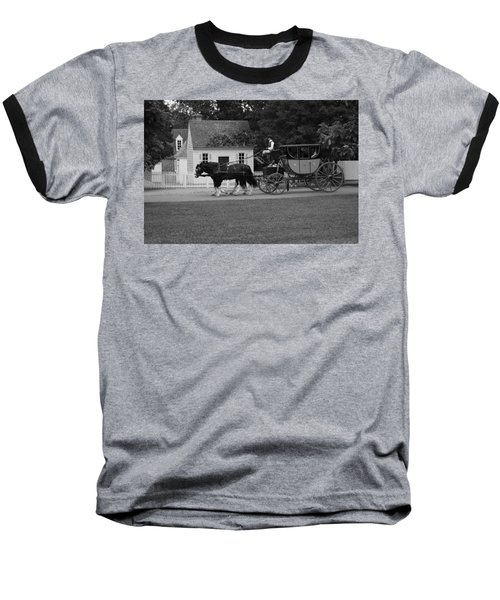 Baseball T-Shirt featuring the photograph A Look Back by Eric Liller
