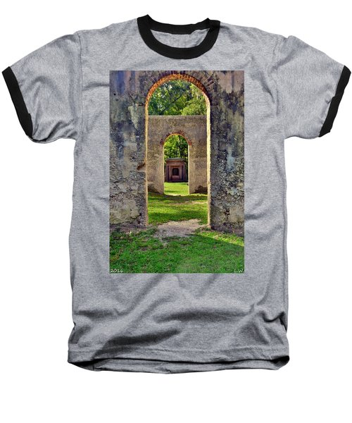 A Look Through Chapel Of Ease St. Helena Island Beaufort Sc Baseball T-Shirt