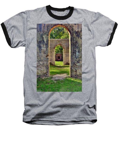 A Look Through Chapel Of Ease St. Helena Island Beaufort Sc Baseball T-Shirt