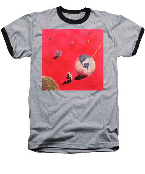 A Lot To Think About Baseball T-Shirt by Thomas Blood