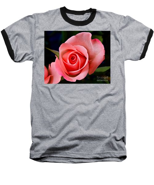 A Loving Rose Baseball T-Shirt by Sean Griffin