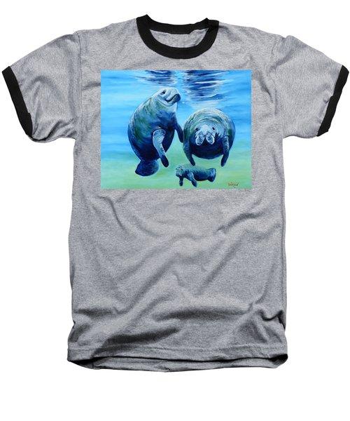 A Manatee Family Baseball T-Shirt