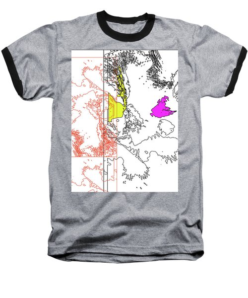 A Map Of Irises Baseball T-Shirt