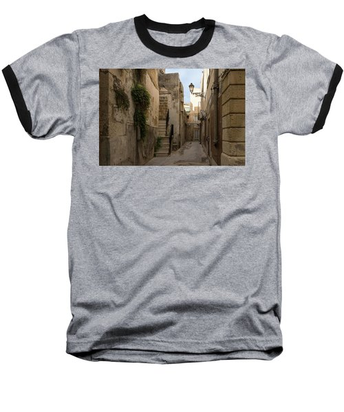 A Marble Staircase To Nowhere - Tiny Italian Lane In Syracuse Sicily Baseball T-Shirt