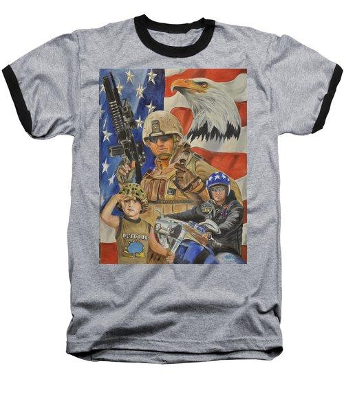 A Marine's Marine Baseball T-Shirt by Ken Pridgeon