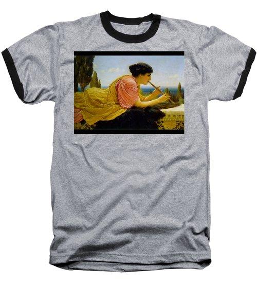 A Melody  Baseball T-Shirt by John William Godward