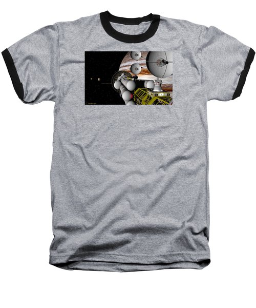 Baseball T-Shirt featuring the digital art A Message Back Home by David Robinson