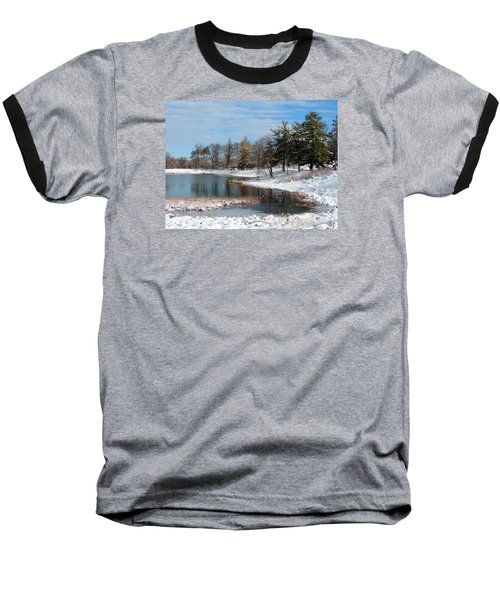 Baseball T-Shirt featuring the photograph A Mild Winter Morning by Teresa Schomig