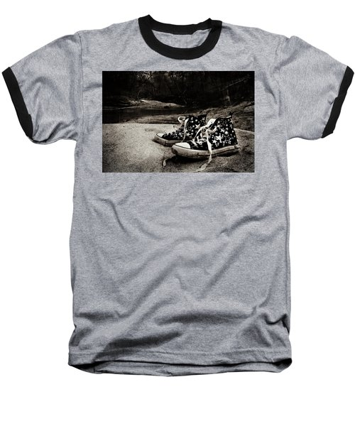 Baseball T-Shirt featuring the photograph A Mile In My Shoes by Jessica Brawley