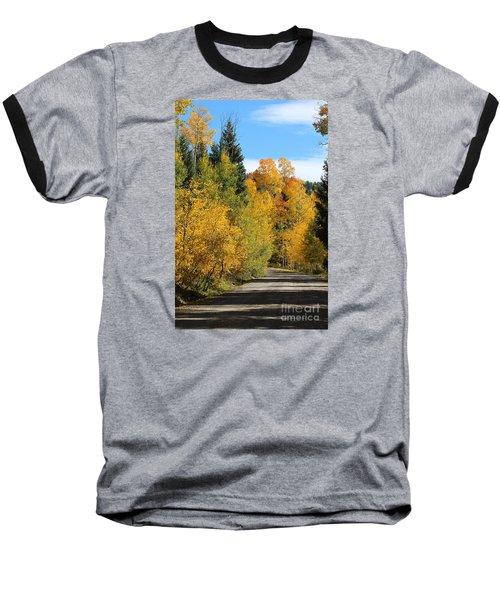 A Miraculous Autumn Vista Iv Baseball T-Shirt