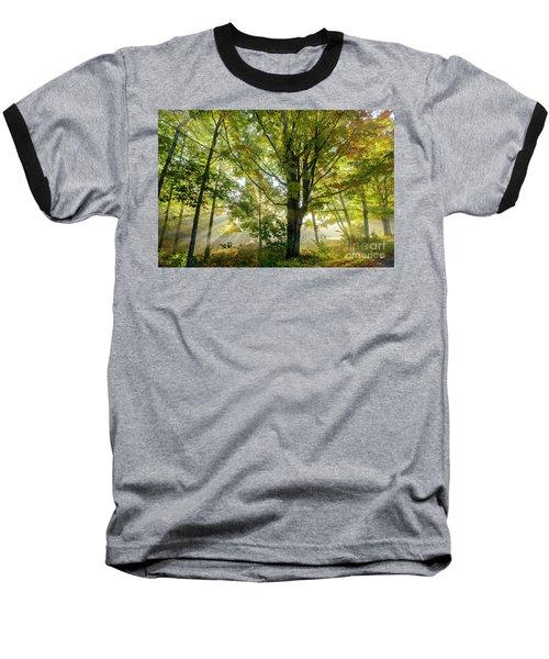 A Misty Fall Morning Baseball T-Shirt