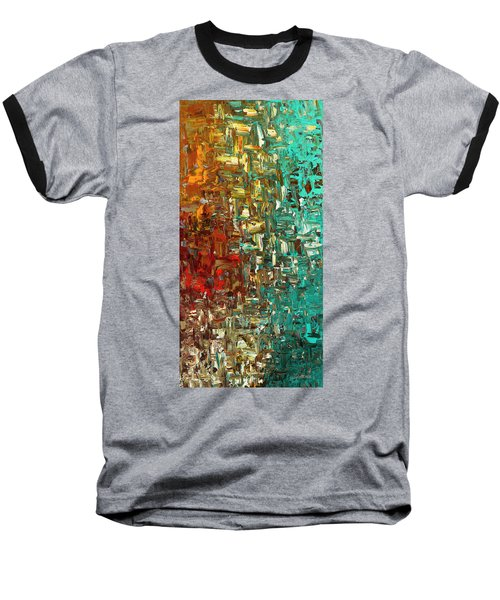 Baseball T-Shirt featuring the painting A Moment In Time - Abstract Art by Carmen Guedez