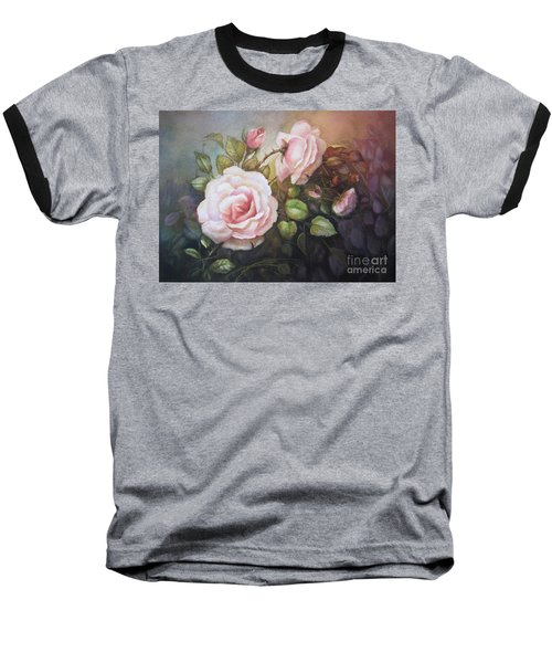 Baseball T-Shirt featuring the painting A Moment In Time by Patricia Schneider Mitchell