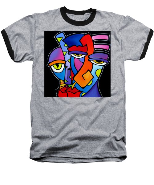 A Moment - Original Abstract Art Baseball T-Shirt by Tom Fedro - Fidostudio