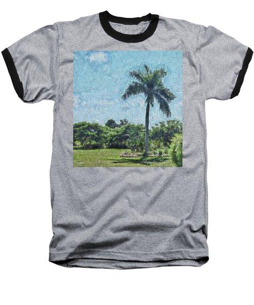 A Monet Palm Baseball T-Shirt