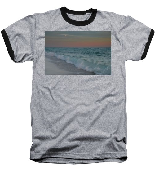Baseball T-Shirt featuring the photograph A Moonlit Evening On The Beach by Renee Hardison