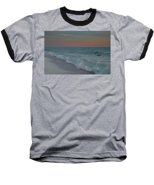 A Moonlit Evening On The Beach Baseball T-Shirt by Renee Hardison