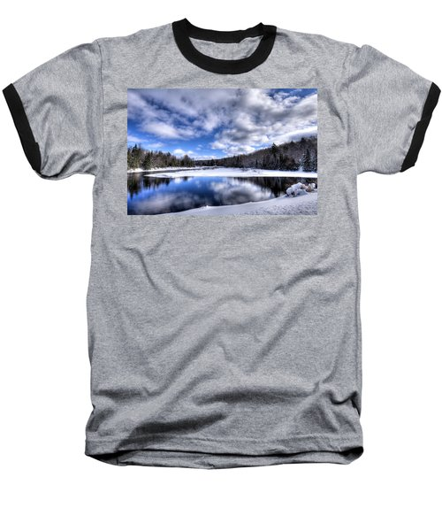 Baseball T-Shirt featuring the photograph A Moose River Snowscape by David Patterson