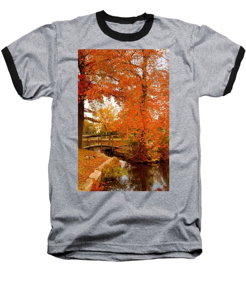A Morning In Autumn - Lake Carasaljo Baseball T-Shirt