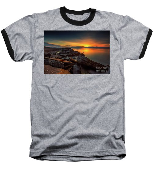 A Morning On The Rocks Baseball T-Shirt