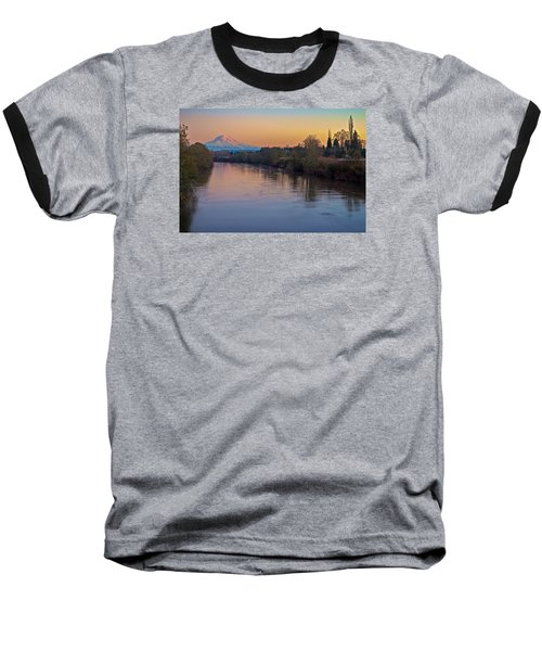 Baseball T-Shirt featuring the photograph A Mt Tahoma Sunset by Ken Stanback