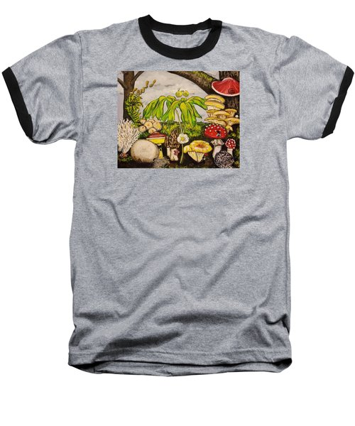 A Mushroom Story Baseball T-Shirt by Alexandria Weaselwise Busen