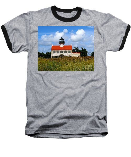 A New Day At East Point Light Baseball T-Shirt by Nancy Patterson