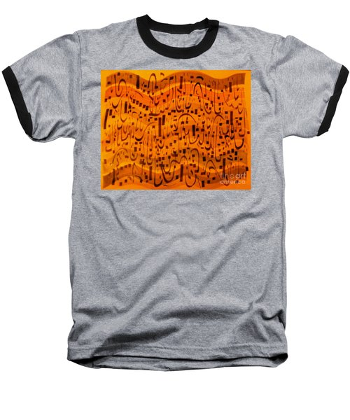 Baseball T-Shirt featuring the painting A New Song by Nancy Kane Chapman