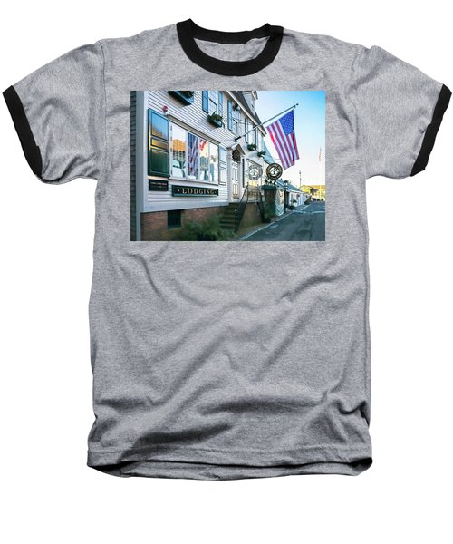 Baseball T-Shirt featuring the photograph A Newport Wharf by Nancy De Flon