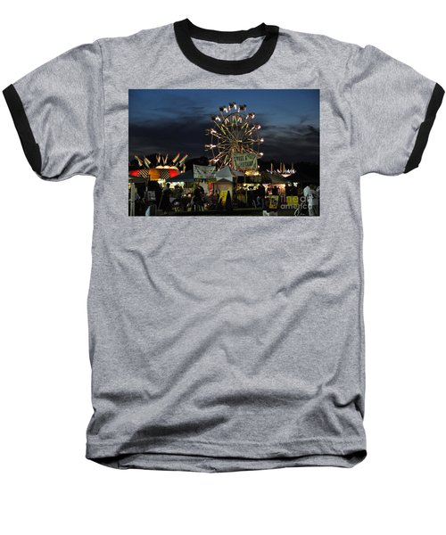 Baseball T-Shirt featuring the photograph A Night At The Fair by John Black