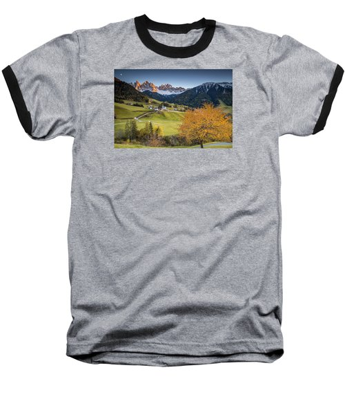 A Night In Dolomites Baseball T-Shirt
