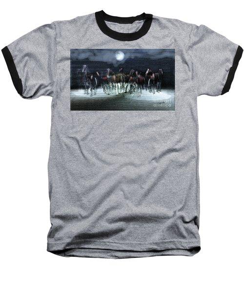 A Night Of Wild Horses Baseball T-Shirt