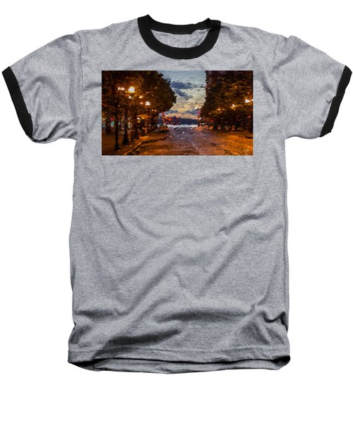 A Night Out On The Town Baseball T-Shirt by Anthony Fishburne