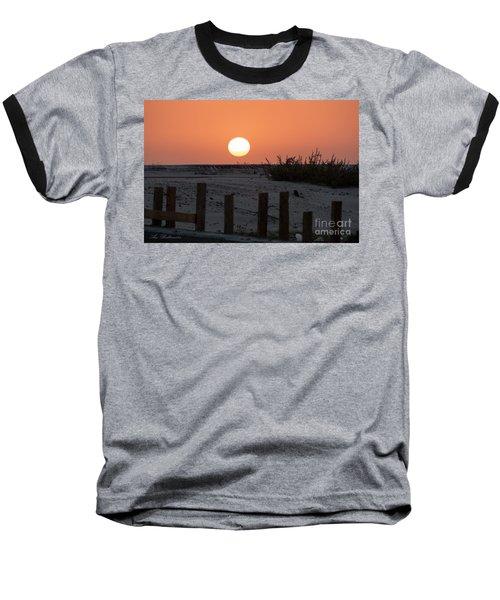 A November Sunset Scene Baseball T-Shirt by Arik Baltinester