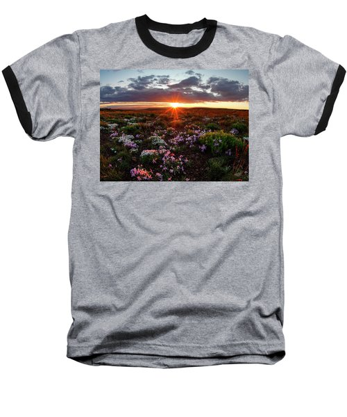 Baseball T-Shirt featuring the photograph A Nuttalls Linanthastrum Morning by Leland D Howard