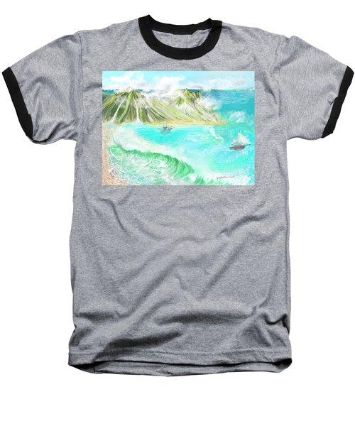 A Ocean Some Where Baseball T-Shirt